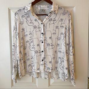 ASOS Abstract Print Button Down Shirt